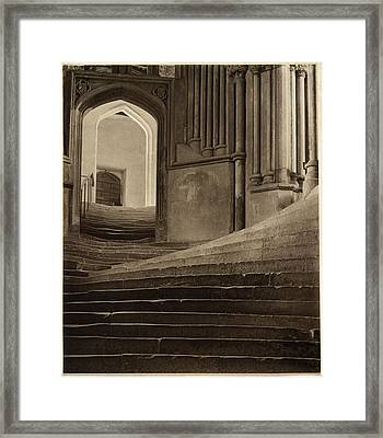 Framed Print featuring the pyrography A Sea Of Steps by Artistic Panda