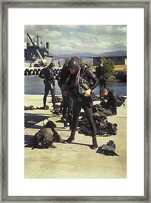 A Seal Team Combat Swimmer Squad Put Framed Print by Michael Wood