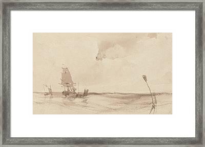 A Seascape Framed Print by Richard Parkes Bonington