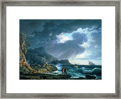 A Seastorm Framed Print