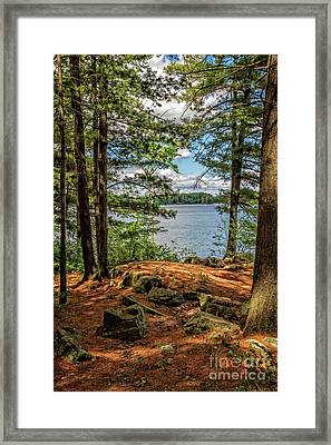 A Secluded Spot Framed Print