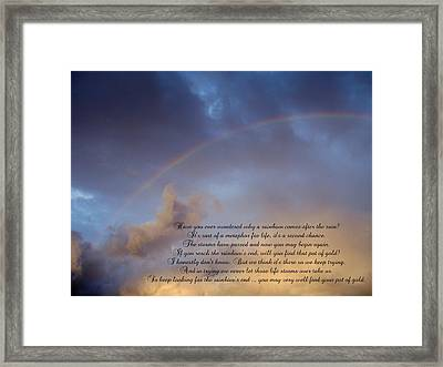 A Second Chance Framed Print by Ginger Howland