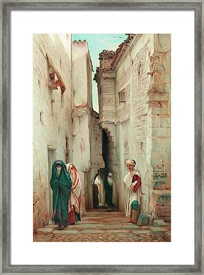 A Secret Admirer Framed Print by Guillaume Charles Brun