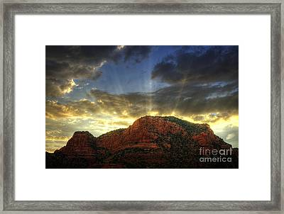 A Sedona Sunset Framed Print