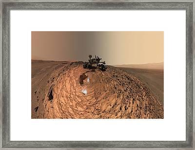 A Selfie On Mars Framed Print by Nasa