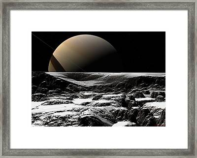 Framed Print featuring the digital art A Sense Of Scale  by David Robinson