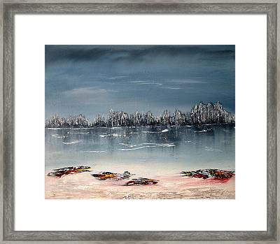 A Serene Day In Winter Framed Print by David Hatton