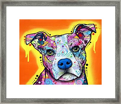 A Serious Pit Framed Print by Dean Russo