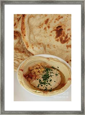 A Serving Of Humus Framed Print by PhotoStock-Israel