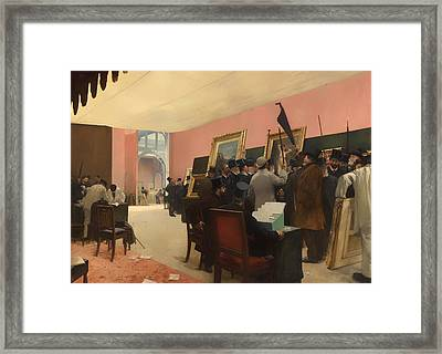 A Session Of The Painting Jury Framed Print by Mountain Dreams