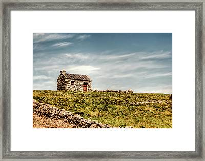A Shack On The Aran Islands Framed Print by Natasha Bishop
