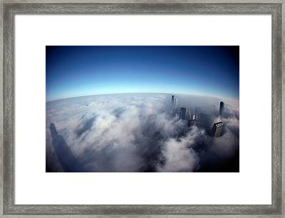 A Shadow Of The Sears Tower Slants Framed Print by Steve Raymer