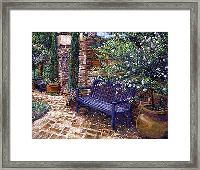 A Shady Resting Place Framed Print by David Lloyd Glover
