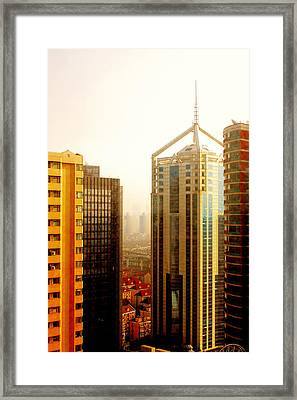 A Shanghai Sunset Framed Print by Christine Till