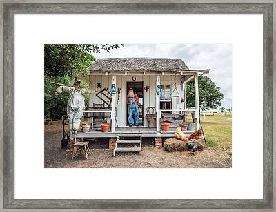 A Sharecropper's Cabin On The George Ranch Historical Park Framed Print by Carol M Highsmith