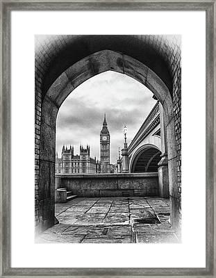 A Sherlock Holmes Scene Framed Print by Martin Newman