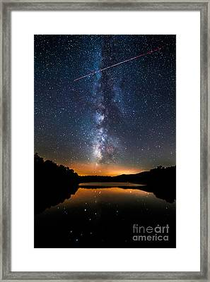 A Shooting Star Framed Print