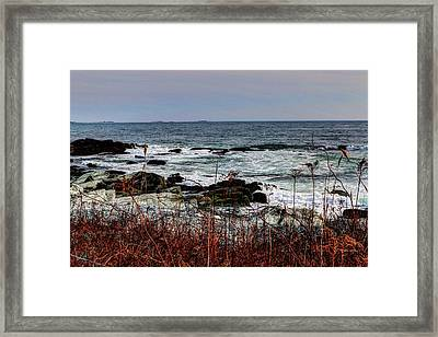 Framed Print featuring the photograph A Shoreline In New England by Tom Prendergast