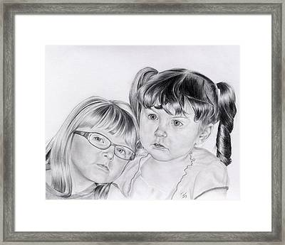 A Shoulder To Lean On  Framed Print by Patrick Entenmann