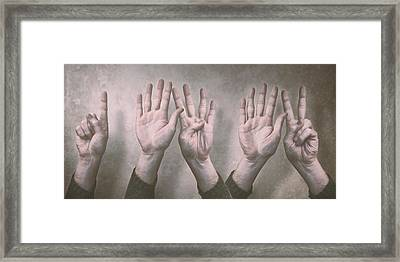 A Show Of Hands Day 197 Framed Print