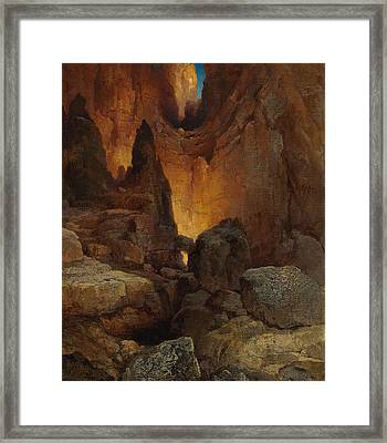 A Side Canyon, Grand Canyon Of Arizona Framed Print