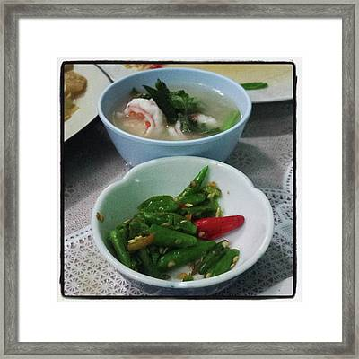 Framed Print featuring the photograph A Side Of Tom Yum Goon With Your by Mr Photojimsf