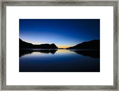 A Sierra Morning High Framed Print