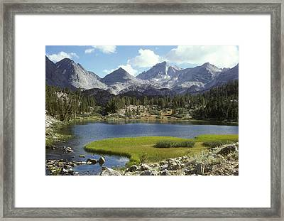 A Sierra Mountain Lake In Summer Framed Print