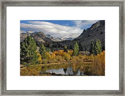 A Sierra Mountain View Framed Print