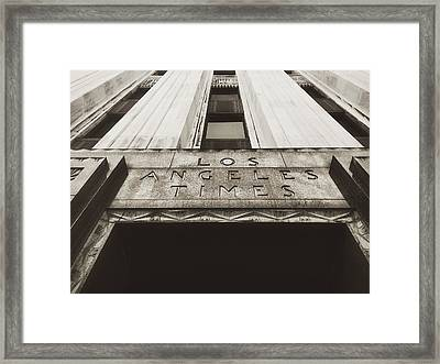 A Sign Of The Times - Vintage Framed Print