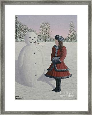 A Silent Playmate Framed Print by Peter Szumowski