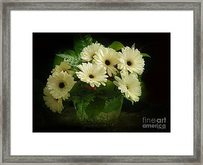A Simple Bouquet Framed Print by Nancy Dempsey