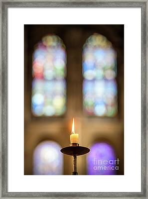 A Simple Flame Framed Print by Tim Gainey