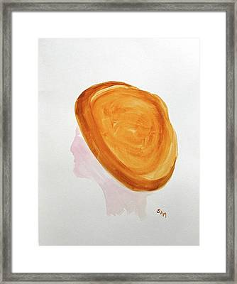 Framed Print featuring the painting A Simple Hat by Sandy McIntire