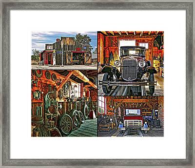 A Simpler Time - Collage Framed Print