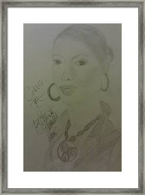 A Singer Ciara Framed Print