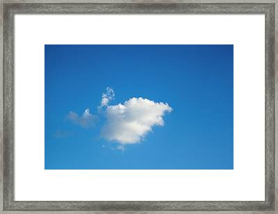 Framed Print featuring the photograph A Single Cloud by Eric Christopher Jackson