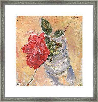A Single Rose Framed Print by Horacio Prada