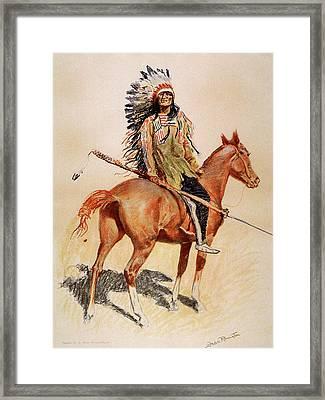 A Sioux Chief Framed Print