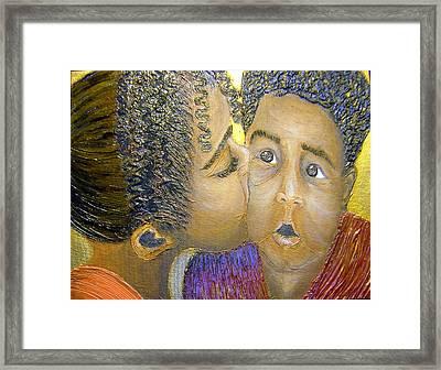 A Sisters Love Framed Print by Keenya  Woods
