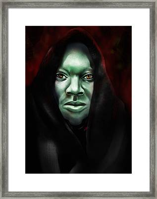 A Sith Fan Framed Print by AC Williams