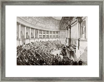 A Sitting Of The French Legislature In Framed Print by Vintage Design Pics
