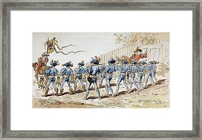 A Sixteenth Century Marching Band With Framed Print by Vintage Design Pics