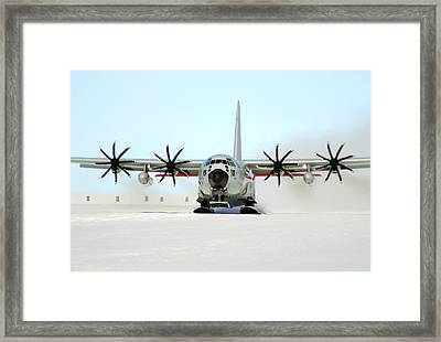 A Ski-equipped Lc-130 Hercules Framed Print by Stocktrek Images