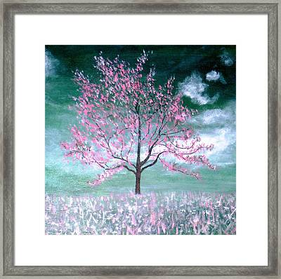 A Sky Green With Envy Framed Print