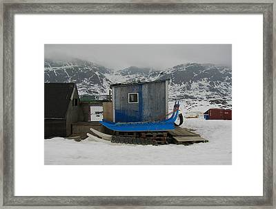 A Sledge Dog House Three Framed Print by Sidsel Genee
