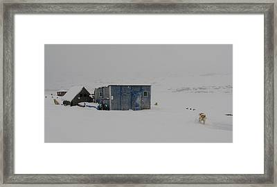 A Sledge Dog House Two Framed Print by Sidsel Genee