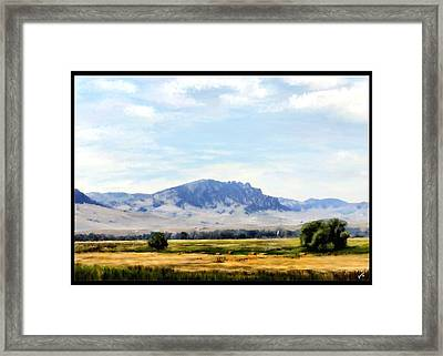 Framed Print featuring the painting A Sleeping Giant by Susan Kinney