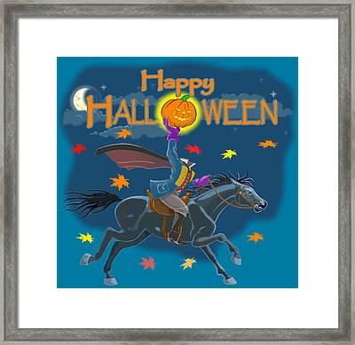 A Sleepy Hollow Halloween Framed Print
