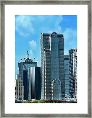 A Slice Of Dallas Framed Print by Joan Bertucci
